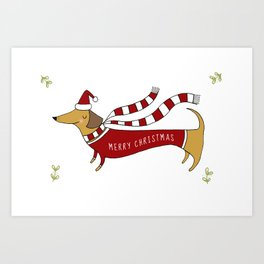 Christmas Card Art Print