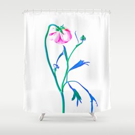 One Flower - Study 3. Back Shower Curtain