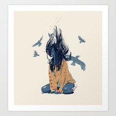 woman free Art Print