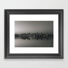 Porto in Black and White Framed Art Print