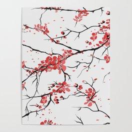 sakura pattern background Poster