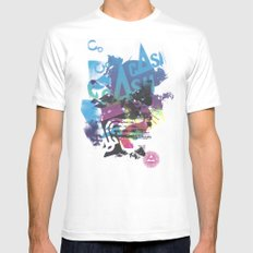 Cash Silk 002 MEDIUM Mens Fitted Tee White