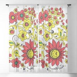 Floral hohloma Sheer Curtain