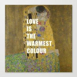 love is the warmest colour Canvas Print