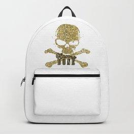 White Glam to the Bone Skull Backpack