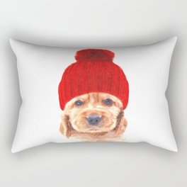 Cocker spaniel puppy with hat Rectangular Pillow