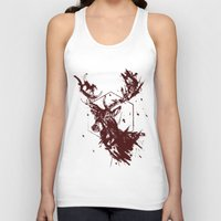 stag Tank Tops featuring Stag by Bearded Hunter