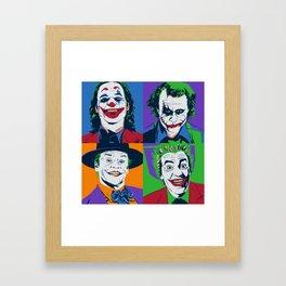 Joker Pop Art Framed Art Print