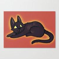 kiki Canvas Prints featuring Kiki by StickyHunter