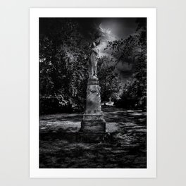 Tombstone Shadow No 2 Art Print