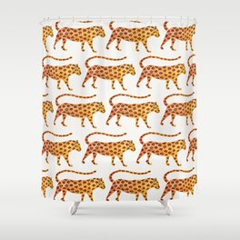 Jaguar Pattern Shower Curtain