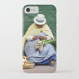 Vegetable and Fruit vendor, Cuenca, Ecuador iPhone Case