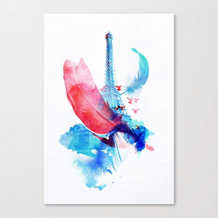 Pigeons of Paris Canvas Print