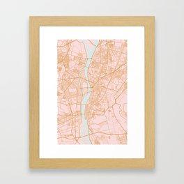 Cairo map, Egypt Framed Art Print