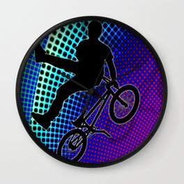 BMX in Fractal Movie Marquee Wall Clock