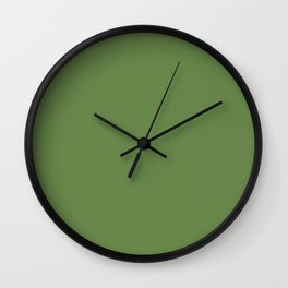 Declaration of Spring ~ Spring Leaf Green Wall Clock