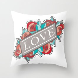 Love & Roses Throw Pillow