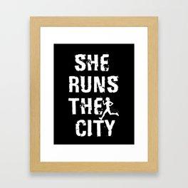 She Runs The City Framed Art Print