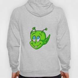 Extraterrestrial smiling child face Hoody