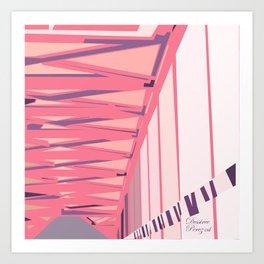 Bridge tiles Art Print