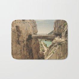 """The most dangerous trail in the world"". El Caminito del Rey Bath Mat"