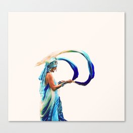 Lady at Protest Canvas Print