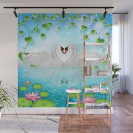 Heart of Swans #9 Wall Mural