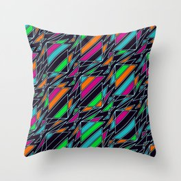 Real Sportsmanship Of Curling Seamless Pattern Throw Pillow