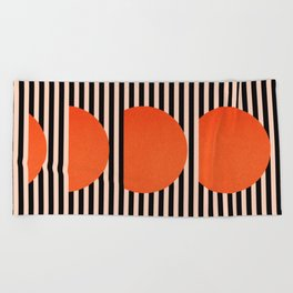 Abstraction_SUNSET_LINE_ART_Minimalism_001 Beach Towel