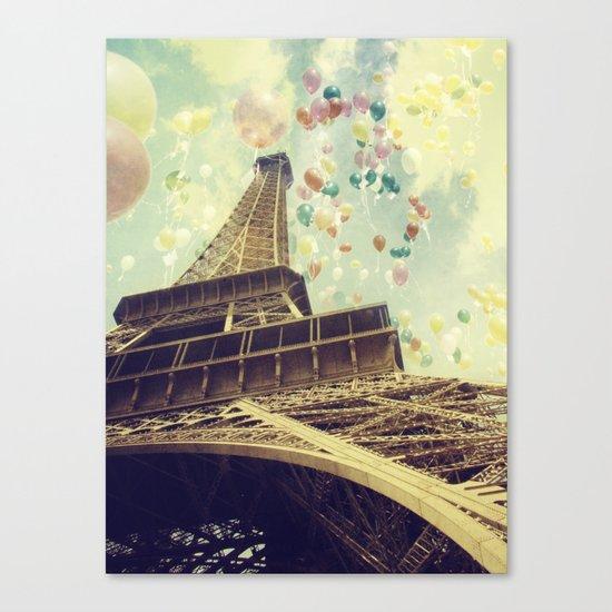 Paris is Flying Canvas Print