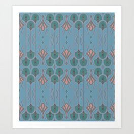 Lily Lake Blue-Gray Art Print