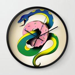 Donut Snake Wall Clock