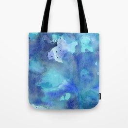 Blue Abstract Watercolor Painting Tote Bag