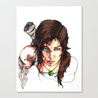 tomb raider Canvas Prints featuring Tomb Raider: The Survivor by Dale Dupre