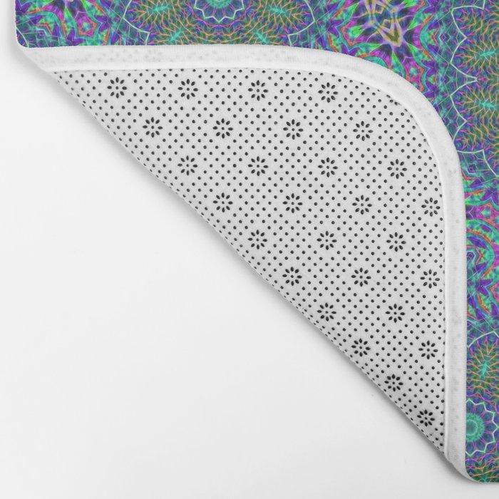 Lace kaleidoscope Bath Mat