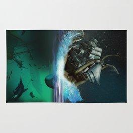 Kraken Attack Rug