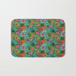 Pattern kitties and flowers Bath Mat