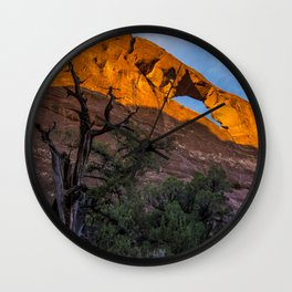Skyline Arch At Sunset - Arches National Park - Utah Wall Clock