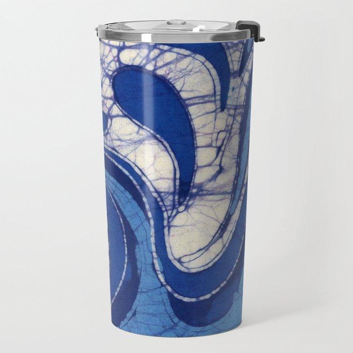 Batik Waves Travel Mug