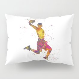 Basketball player 02 in watercolor Pillow Sham