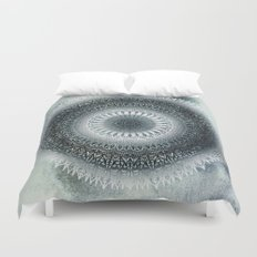WINTER LEAVES MANDALA Duvet Cover