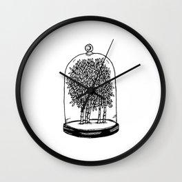 Bamboo Belljar Wall Clock