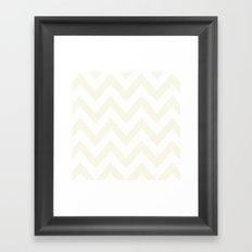 CREAM CHEVRON Framed Art Print