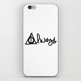 Always, Deathly Hallows, Harry Potter iPhone Skin