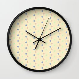 Colored Easter Eggs Pattern Easter Gift Ideas #easterdecor Wall Clock