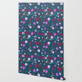 Spring Flowers Decò Wallpaper