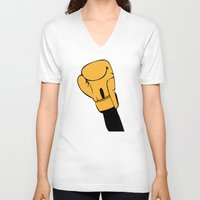 rocky V-neck T-shirts featuring Rocky by FilmsQuiz
