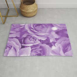 Violet Rose Bouquet For You - Valentine's Day #decor #society6 #buyart Rug