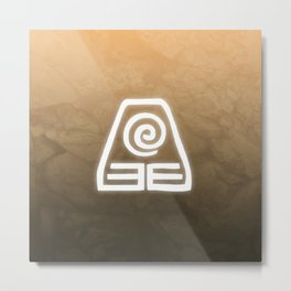 Avatar Earth Bending Element Symbol Metal Print