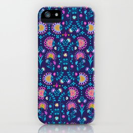 Folkloric In Blue iPhone Case